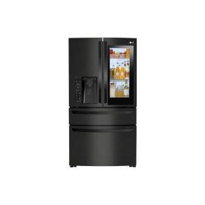 23 cu. ft. Smart wi-fi Enabled InstaView Door-in-Door® Counter-Depth Refrigerator - MATTE BLACK STAINLESS STEEL