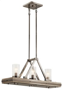 Colerne 6 Light Linear Chandelier Classic Pewter