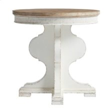 Juniper Dell Round Lamp Table in 17th Century White
