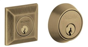Satin Brass and Black Squared Deadbolt