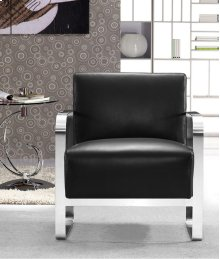 Divani Casa Brizo - Modern Black Leather Lounge Chair