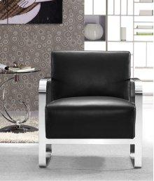 Divani Casa Brizo - Modern Black Leather Lounge Chair