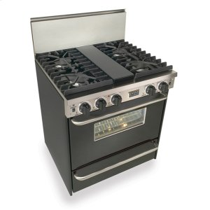 """Five Star30"""" All Gas, Convect, Sealed Burners, Black"""