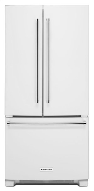 22 Cu. Ft. 33-Inch Width Standard Depth French Door Refrigerator with Interior Dispense - White