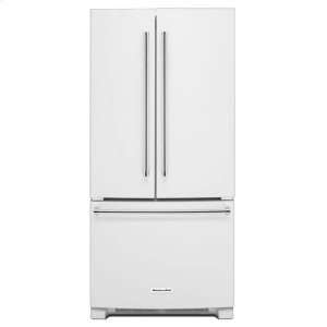 22 Cu. Ft. 33-Inch Width Standard Depth French Door Refrigerator with Interior Dispenser - White -