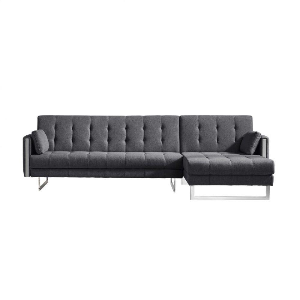 Palomino Sofa Bed Right Dark Grey