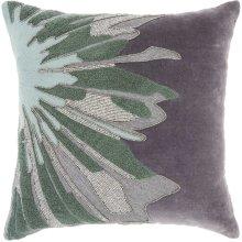 "Luminescence E1205 Grey 16"" X 16"" Throw Pillows"