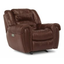 Crosstown Leather Power Recliner with Power Headrest