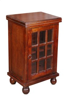 Sunset Trading Cottage End Table with Glass Door