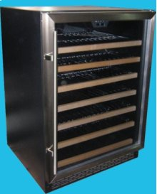54-Bottle Capacity Built-In or Freestanding Wine Cellar