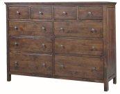 Alder Heritage 10 Drawer Dresser