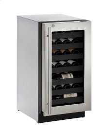 "Modular 3000 Series 18"" Wine Captain® Model With Stainless Frame (lock) Finish and Right-hand Hinged Door Swing (115 Volts / 60 Hz)"