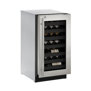 "U-Line Modular 3000 Series 18"" Wine Captain(r) Model With Stainless Frame (Lock) Finish And Right-Hand Hinged Door Swing (115 Volts / 60 Hz)"