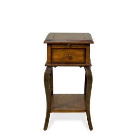 Serena Chairside Table Brown Sugar finish