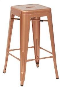 "Bristow 26"" Antique Metal Barstool, Copper Finish, 4 Pack"
