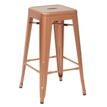 "Bristow 26"" Antique Metal Barstool, Copper Finish, 4 Pack"