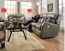 Double Reclining Loveseat with Power Headrest and 2 Pillows Product Image