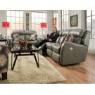 Double Reclining Sofa with 2 Pillows Product Image
