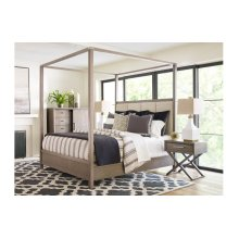 High Line by Rachael Ray Upholstered Poster Bed, Queen 5/0