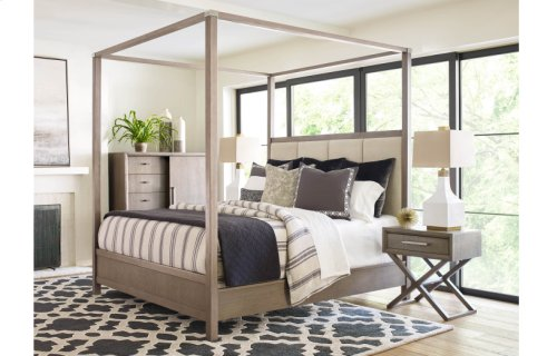 High Line by Rachael Ray Upholstered Poster Bed, King 6/6