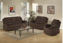 3pc. Brown Reclining Set
