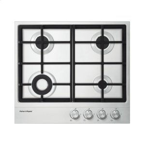 "Fisher & Paykel Gas On Steel Cooktop 24"" 4 Burner"