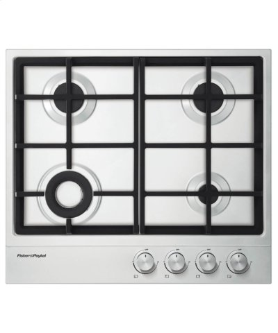"Gas on Steel Cooktop 24"" 4 Burner Product Image"