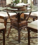 Tahiti Indoor Rattan & Bamboo Round Dining Table Product Image