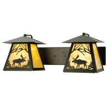 """24""""W Moose at Dawn 2 LT Wall Sconce"""