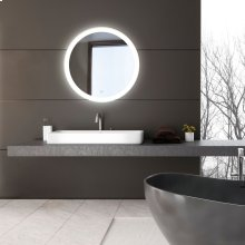 ROUND EDGE-LIT LED MIRROR - Mirror