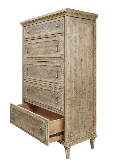 Emerald Home Interlude 5 Drawer 2 Jewelry Doors Chest Sandstone Finish B560-05
