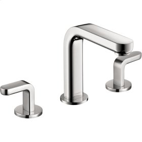 Chrome Metris S Widespread Faucet with Lever Handles, 1.2 GPM