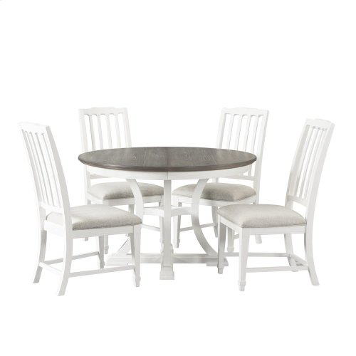 Grand Haven - Round Dining Table Base - Feathered White Finish