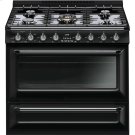 "Free-standing All-Gas ""Victoria"" Range 36"" - Glossy black Product Image"