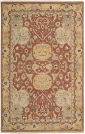 Nourmak S116 Rust Rectangle Rug 5'10'' X 8'10''