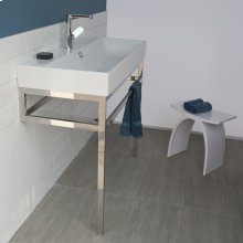 Optional solid surface shelf for floor-standing metal console stand AQS-BX-40