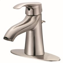 Brushed Nickel Corsair 1H Lavatory Faucet Single Hole Mount w/ 50/50 Pop-Up Drain & Optional Deck Plate Included 1.5gpm