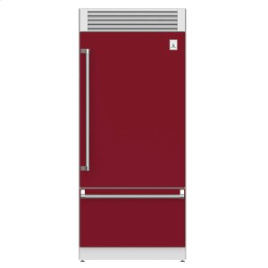 "Hestan36"" Pro Style Bottom Mount, Top Compressor Refrigerator - KRP Series - Tin-roof"
