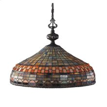 Jewelstone 3-Light Chandelier in Classic Bronze with Tiffany Style Glass
