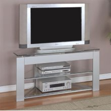 """Glossy Silver"" TV Stand"