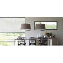 Fabric suspension lamp