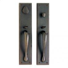 """Rectangular Entry Set - 3 1/2"""" x 18"""" White Bronze Brushed"""