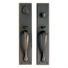 "Rectangular Entry Set - 3 1/2"" x 18"" Silicon Bronze Brushed"