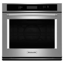 "Floor Model - 30"" Single Wall Oven with Even-Heat True Convection - Stainless Steel"