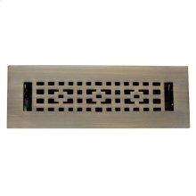 """Ansonia Brass Heat Register - 2 1/4"""" x 10"""" (4"""" x 11 1/2"""") / Antique Brass"""