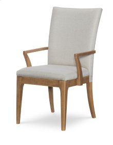Upholstered Back Arm Chair