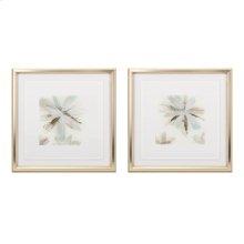 TY Floral Floating Acrylic Framed Wall Decor - Ast 2