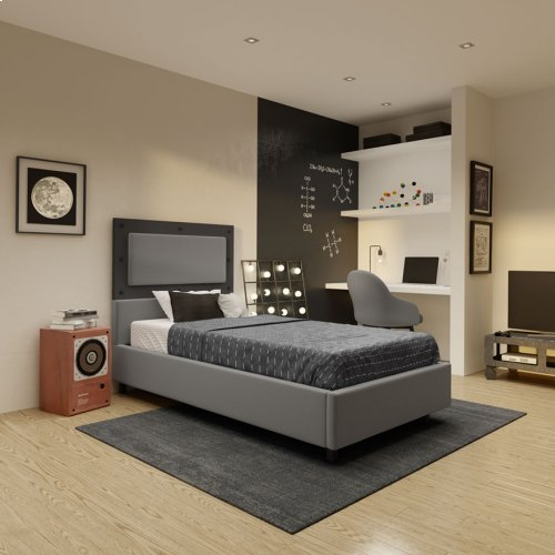 Wippley Upholstered Bed - Twin
