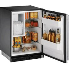 """Stainless Left-hand, manual defrost 1000 Series / 24"""" Combo® Model"""