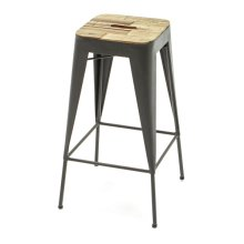 Austen Wood and Metal Bar Stool